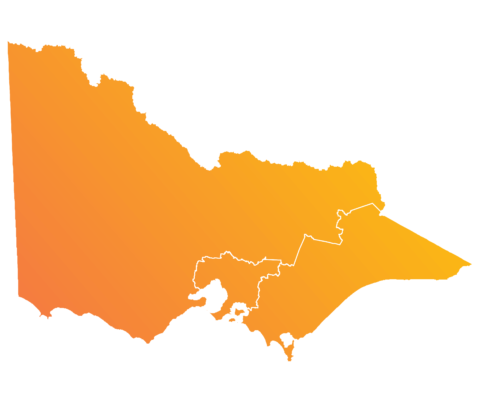 Map of Victoria highlighting the whole state